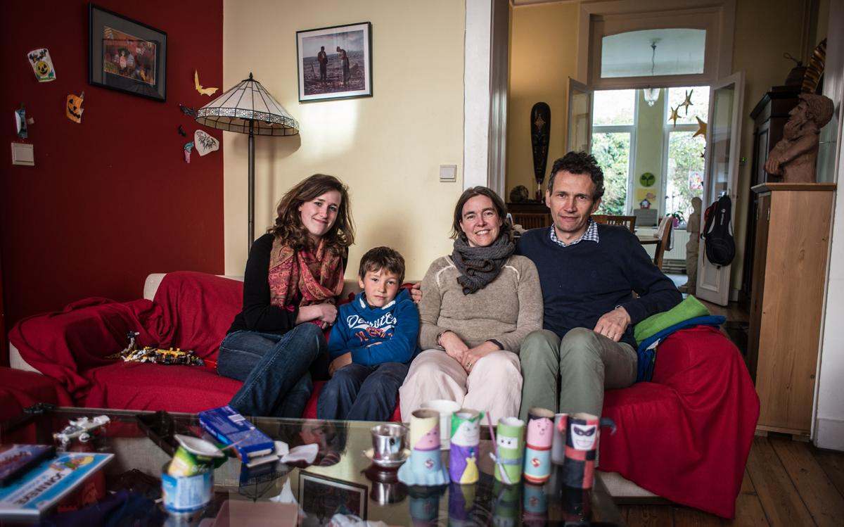 étudiante et famille