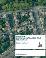 Couverture du réglement Communal d'Urbanisme Zoné Quartier des Fleurs