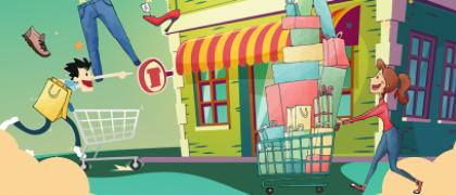 Affiche grande journée des commerçants